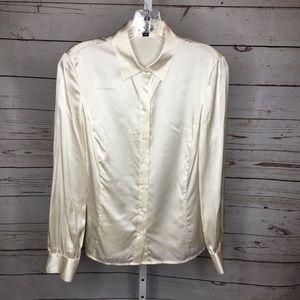 Ann Taylor Long Sleeve Silk Blouse Size 2